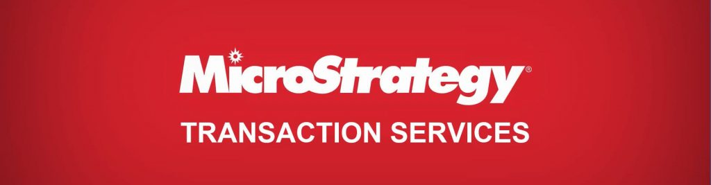MicroStrategy Transaction Services