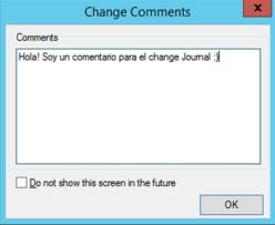 Changes Comments