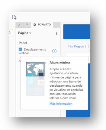 Presentations Microstrategy Scrolling pages