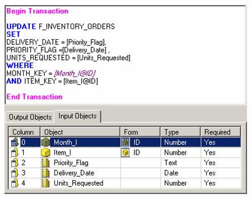 MicroStrategy Developer Transaction Services