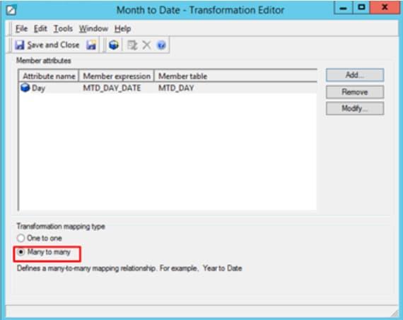 Transformations Editor